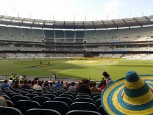 Melbourne Cricket Ground - capacity 100,000! - Sri Lanka vs. Australia with Shawn